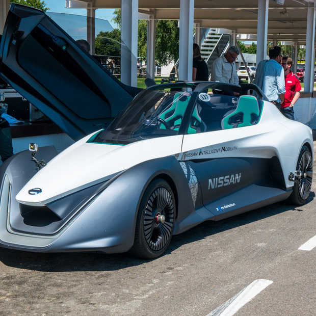 Nissan Bladeglider tijdens het Goodwood Festival of Speed