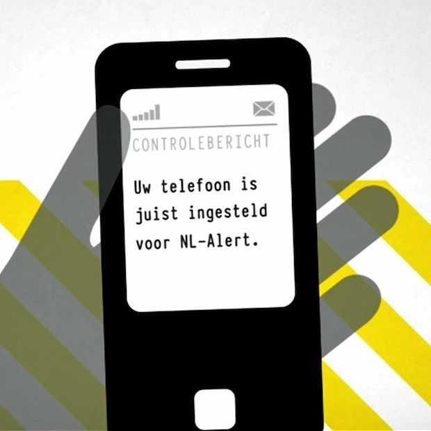 Het is weer NL-Alert testdag; nu ook via de 4G netwerken