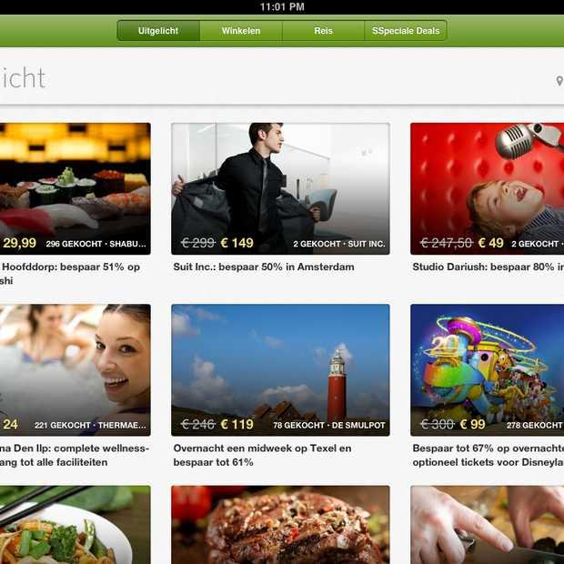 Ook Nederlandse aanbiedingen in iPad-app Groupon