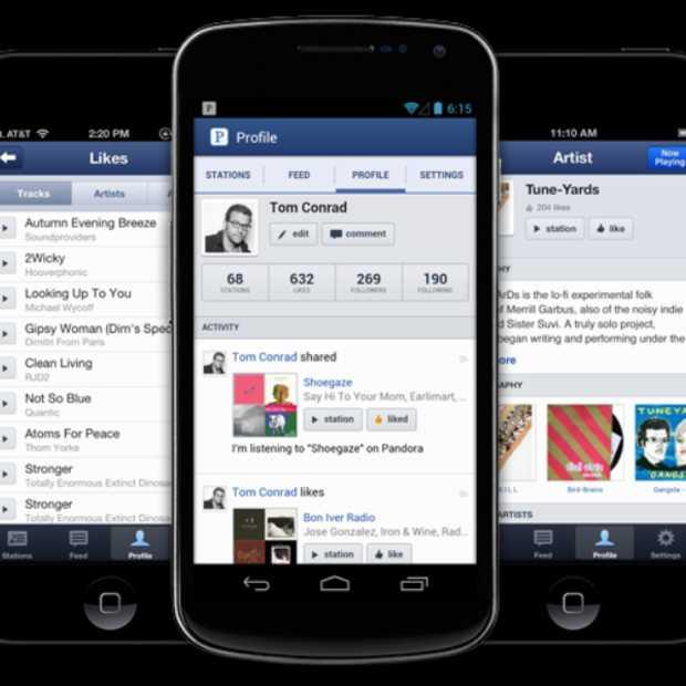 Pandora komt met vernieuwde iOS- en Android-app