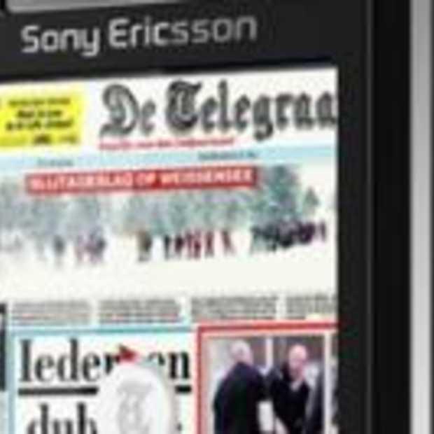 Papieren krant op je mobiel