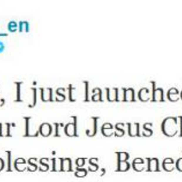 Paus twittert via iPad