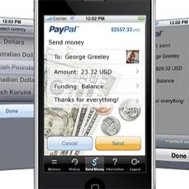 PayPal App is nu beschikbaar