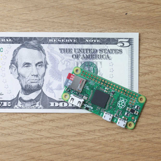 De nieuwe Raspberry Pi Zero kost slechts 5 dollar!