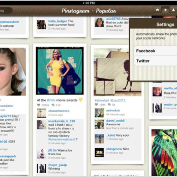 Pinstagram brengt iPad app uit