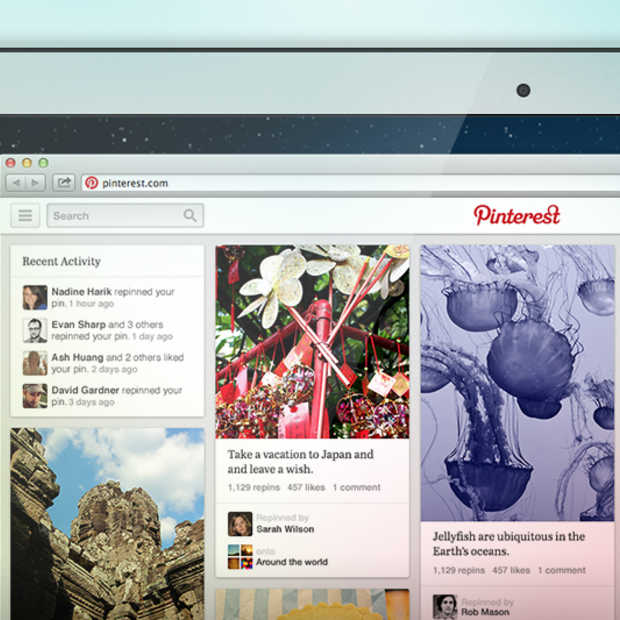 Pinterest gaat testen met een nieuwe layout