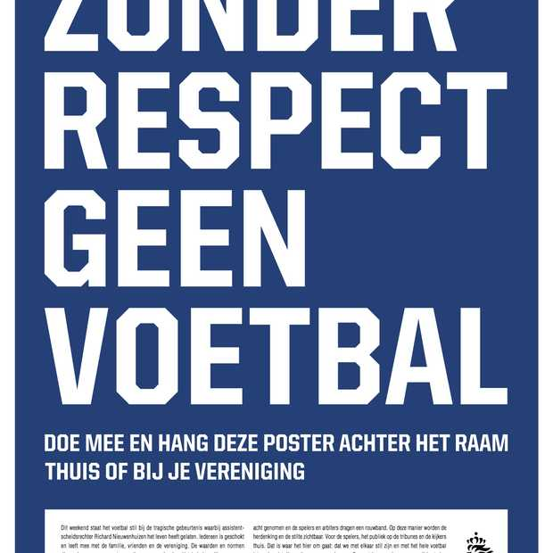Poster campagne KNVB: 'Zonder respect, geen voetbal'