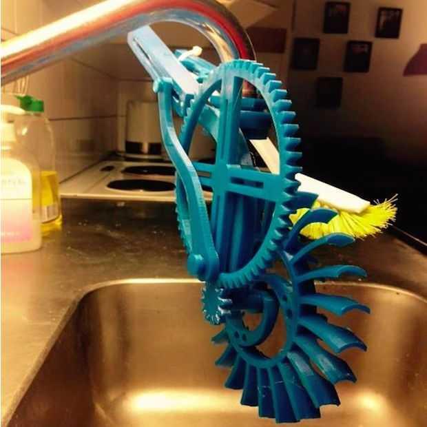 Student creëert vaatwasser met 3D printer