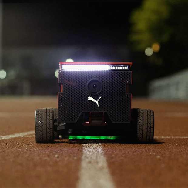 Deze robot van Puma gaat even snel als Usain Bolt