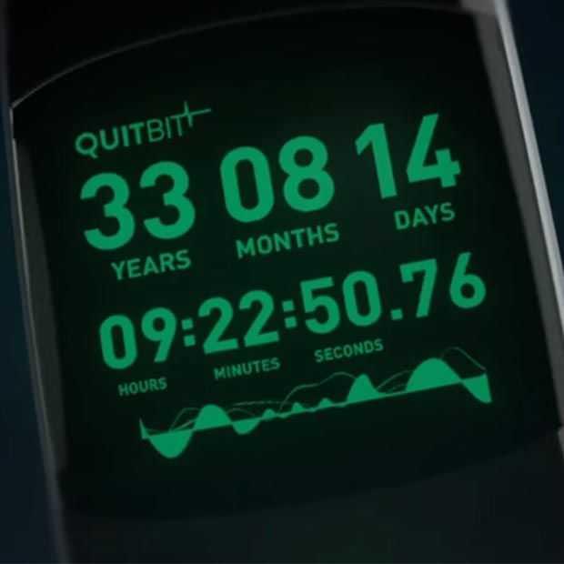 Quitbit; een revolutionaire wearable die aftelt!