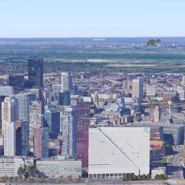 Rotterdam in 3D op Google Maps ziet er echt geweldig uit