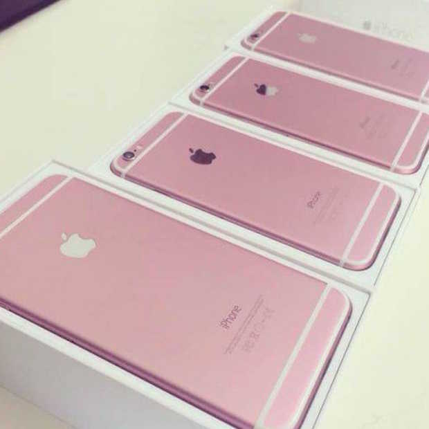 Foto's roze iPhone 6s gelekt