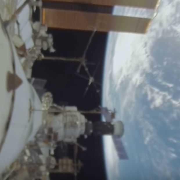 360 graden video van een ruimtewandeling laat het ISS goed zien