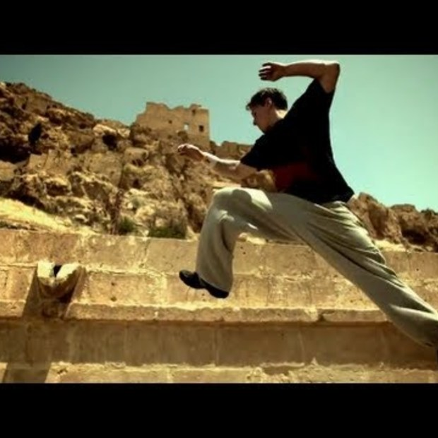 Parkour artists, Ryan Doyle, for Red Bull