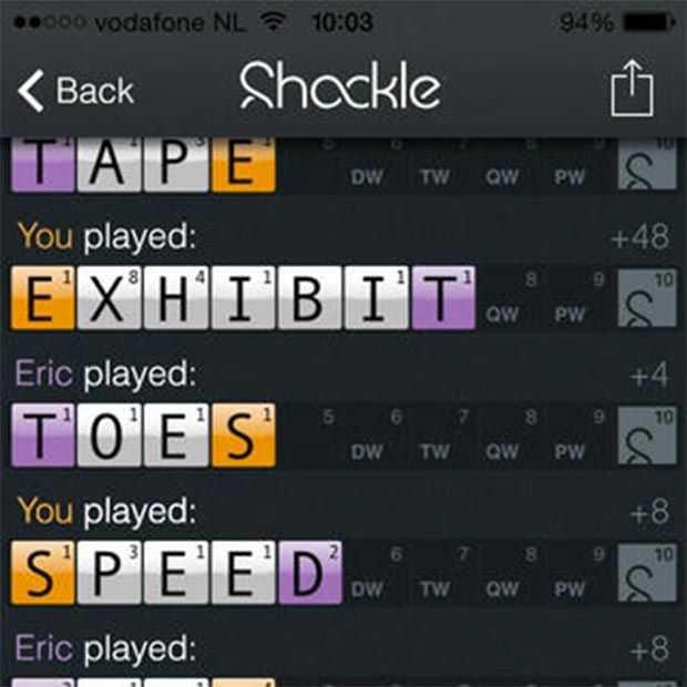 Shackelen, het nieuwe Wordfeud?