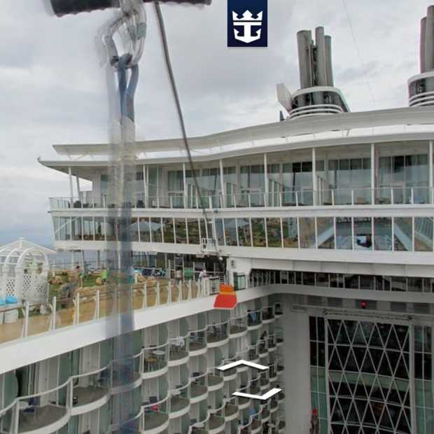 Google voegt Streeview beelden toe van Royal Caribbean Cruise Ship