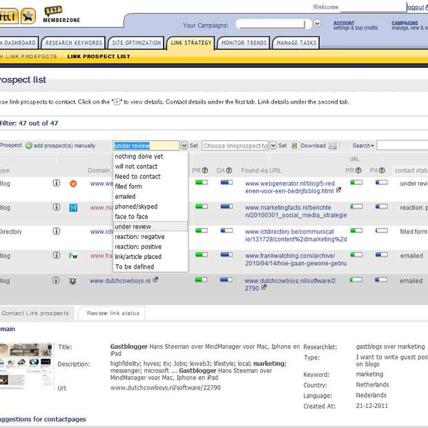 SEO Effect live met linkbuilding PR tool