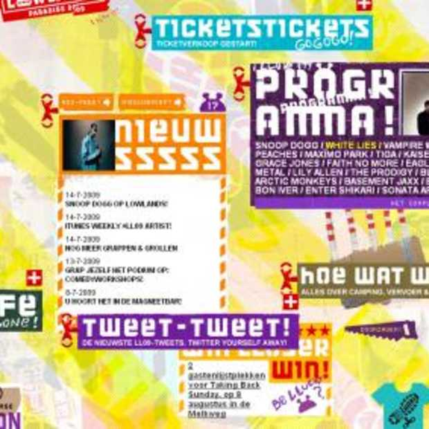 Site Lowlands genomineerd voor Design Award