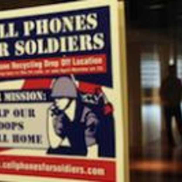 Smartphones duiken op in oorlogsgeweld
