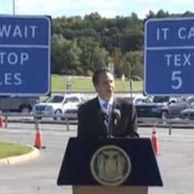 Snelwegen New York krijgen 'sms havens'
