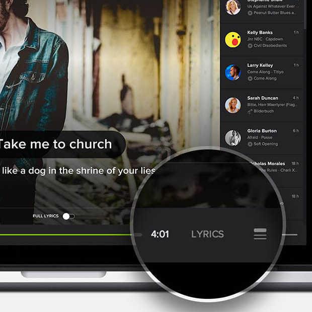 Spotify krijgt karaoke-achtige update voor desktop