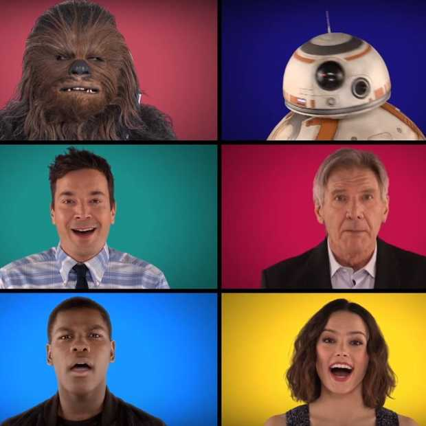 Star Wars a capella medley met Jimmy Fallon en Star Wars cast