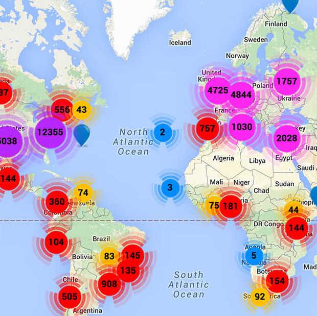 StartupBlink toont de startups bij jou in buurt