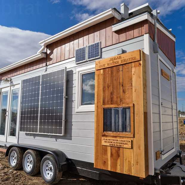 Studenten bouwen een compleet duurzaam tiny house