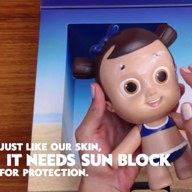 Nivea maakt pop die verbrandt wanneer kinderen hem niet insmeren