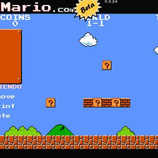 Super Mario Bros. te spelen vanuit je browser
