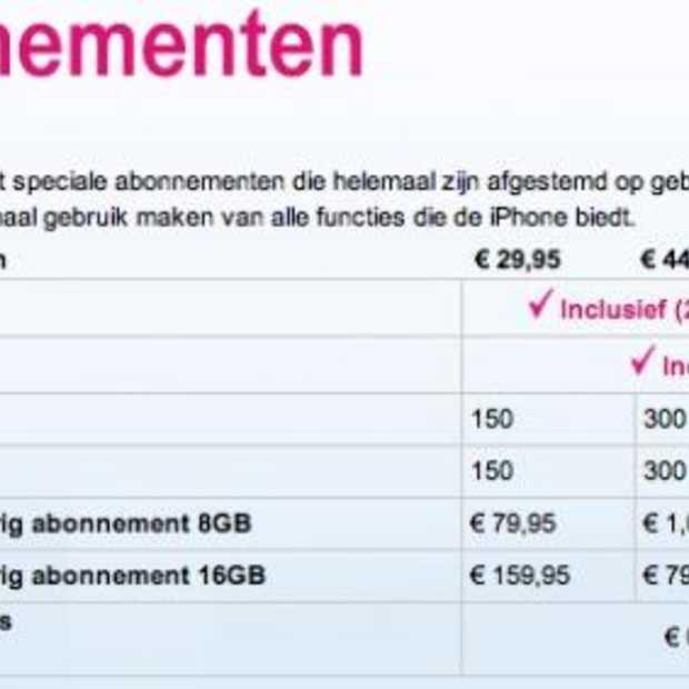 Tarieven voor de iPhone bekend
