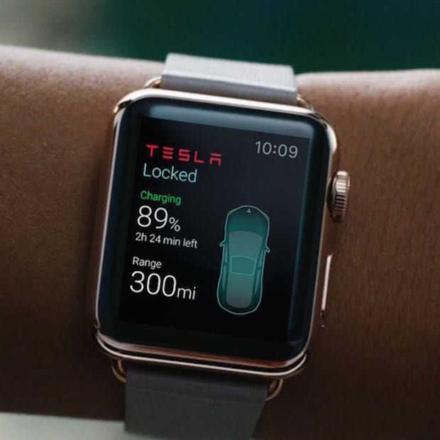 Je Tesla besturen met een Apple Watch!