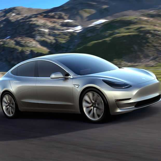Tesla presenteert de betaalbare Tesla Model 3