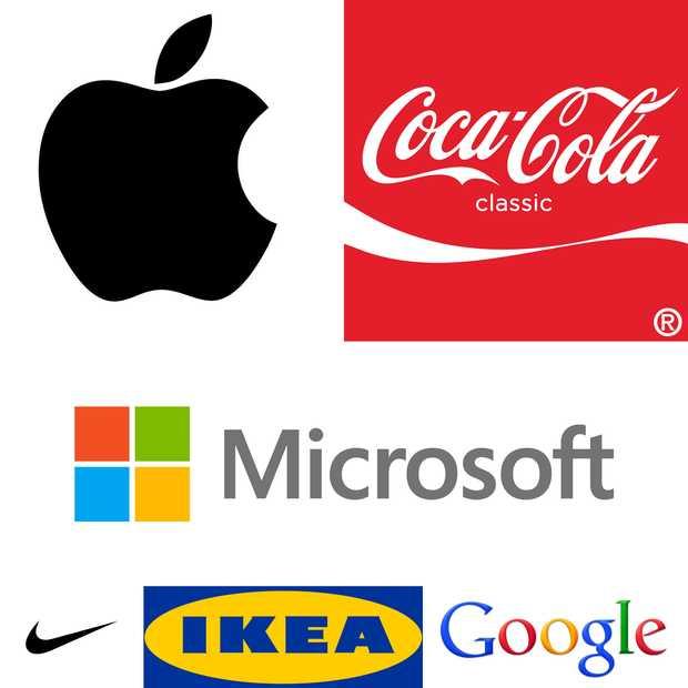 De top 100 merken in de wereld