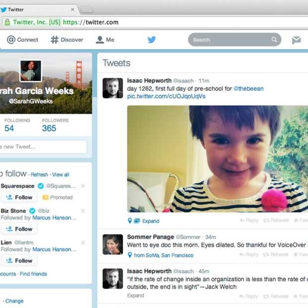 Twitter rolt nieuw website design uit