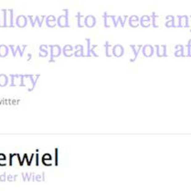 Twitterverbod voor spelers Nederlands Elftal