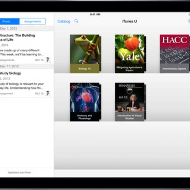 Update iTunes U: Lesstof ontwikkelen, beheren en bespreken op iPad