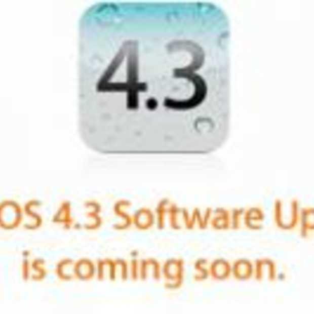 Vanaf 11 maart is iOS 4.3 beschikbaar