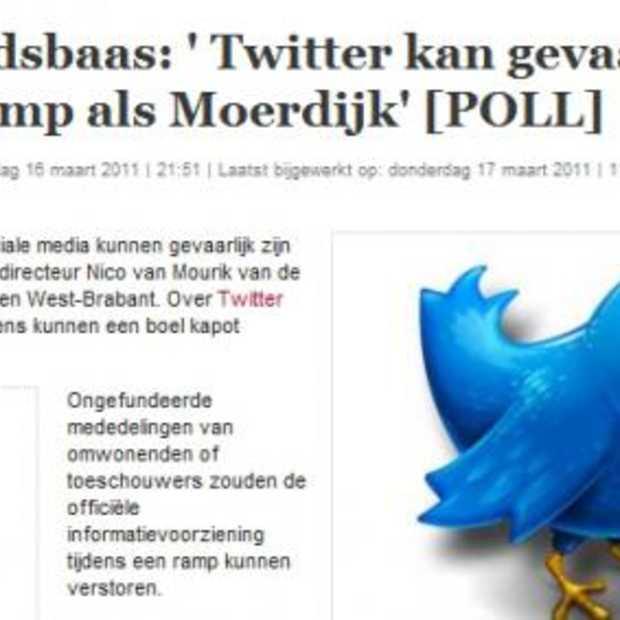 Veligheidsbaas: Twitter verbieden tijdens rampen?