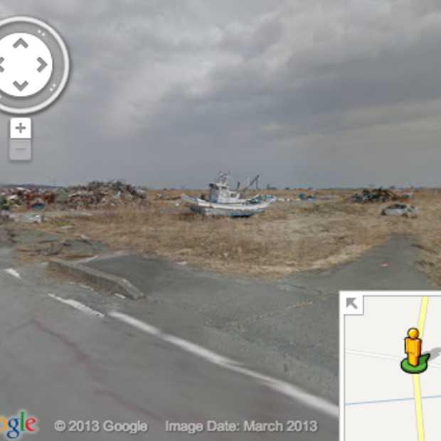 Verlatenheid Fukushima zichtbaar met Google Street View