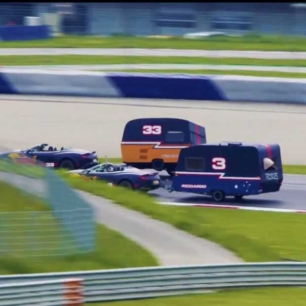 Verstappen en Ricciardo gaan caravan-racen op de Red Bull ring