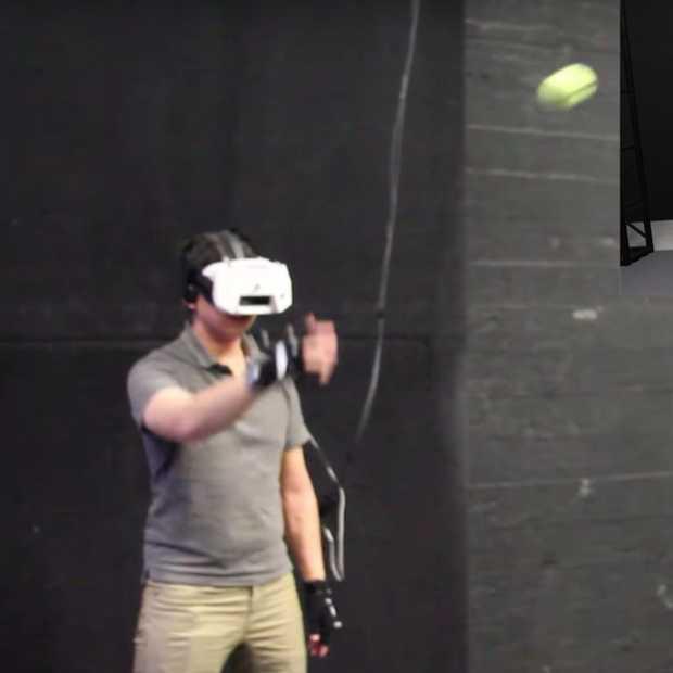 Een balletje overgooien in virtual reality