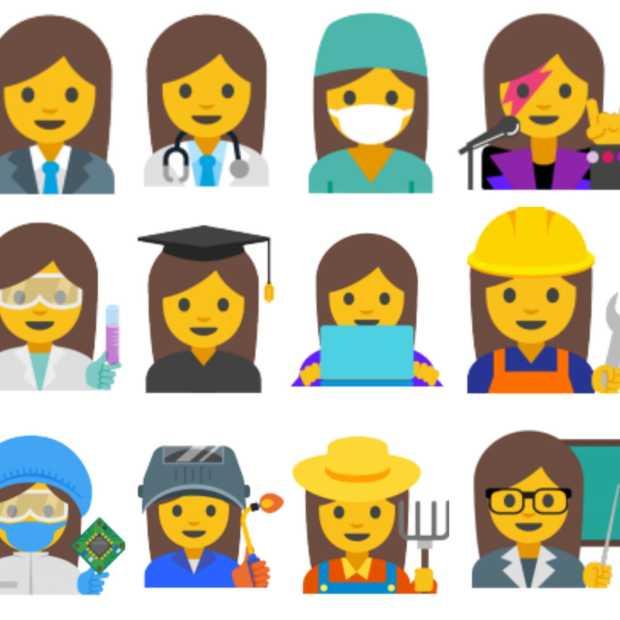 Google wil meer emoji's van vrouwelijke professionals