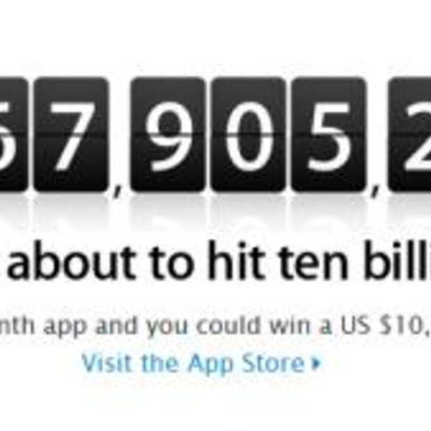 Wanneer haalt de App store haar 10 miljardste download?