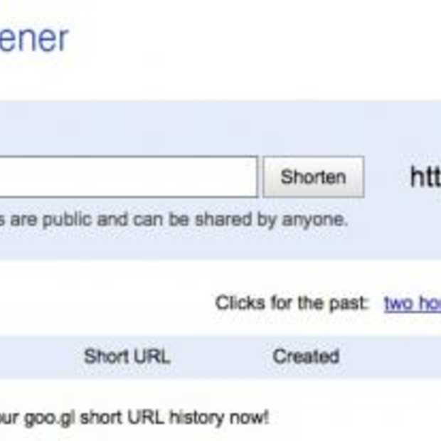 Website voor Google's Url Shortener
