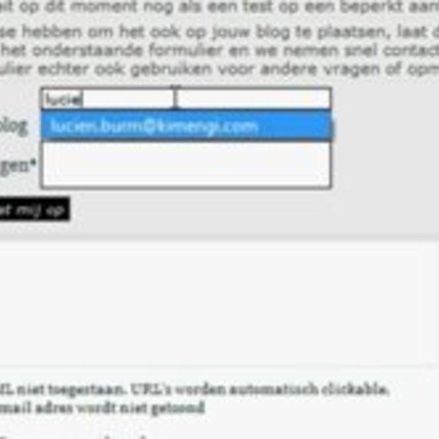 Widget aanvragen voor Blog08
