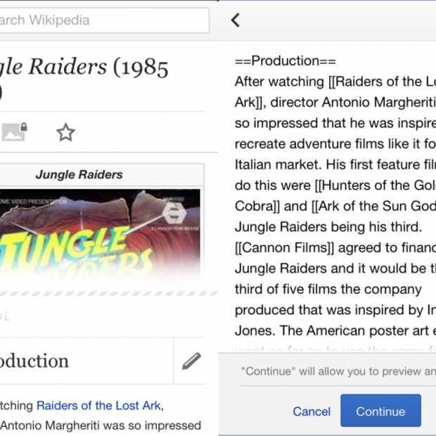 Wikipedia bewerken nu ook mogelijk via mobiele apparaten