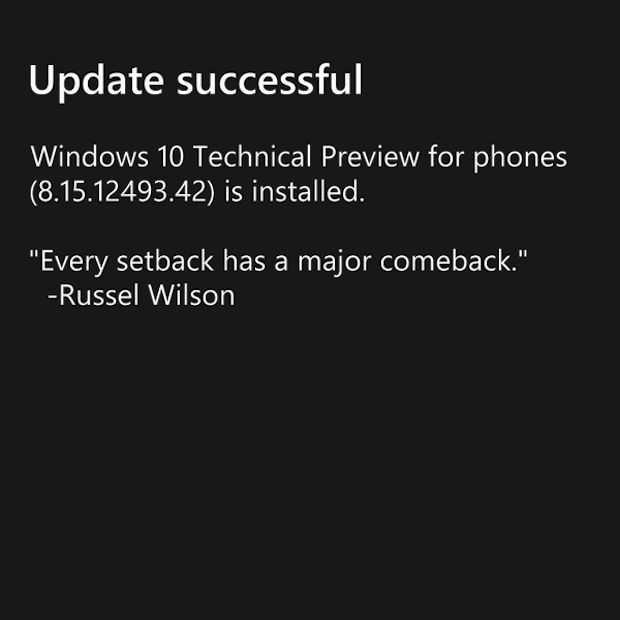 Eerste screenshots van Windows 10 voor smartphones