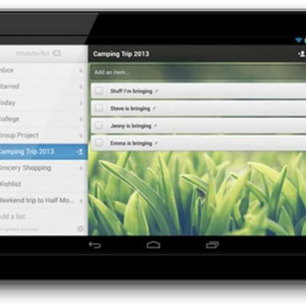 Wunderlist 2 verkrijgbaar op Android-tablets