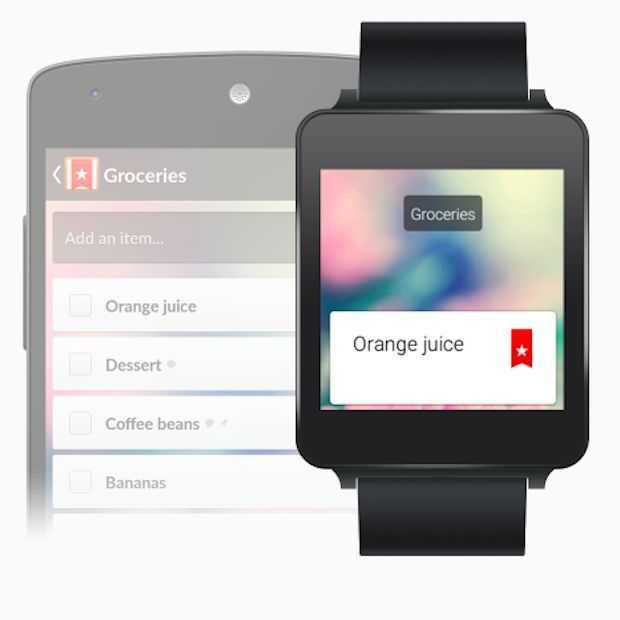 Wunderlist nu ook beschikbaar voor Android Wear